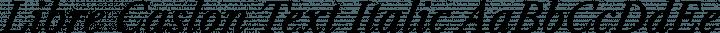 Libre Caslon Text Italic free font
