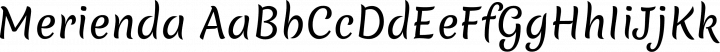 Merienda Regular free font