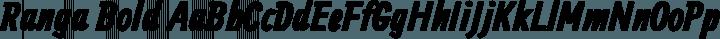 Ranga Bold free font
