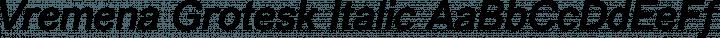 Vremena Grotesk Italic free font