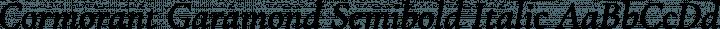 Cormorant Garamond Semibold Italic free font