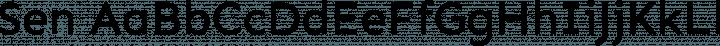 Sen font family by Philatype