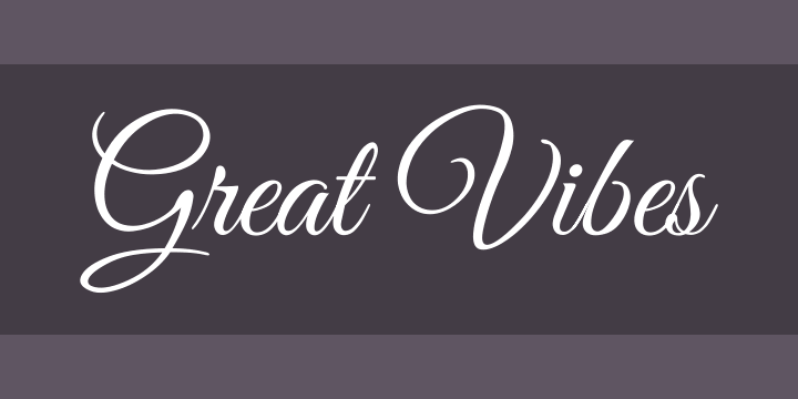 Great Vibes Font Free by TypeSETit » Font Squirrel
