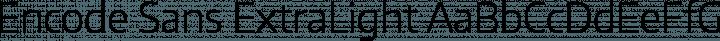 Encode Sans ExtraLight free font