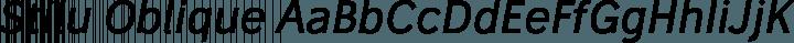 Stilu Oblique free font