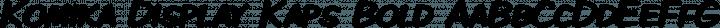 Komika Display Kaps Bold free font