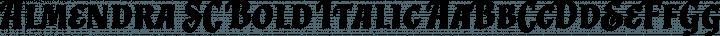 Almendra SC Bold Italic free font