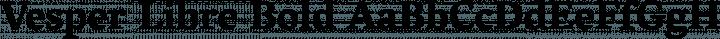 Vesper Libre Bold free font