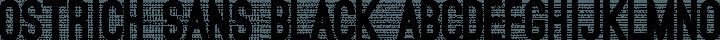 Ostrich Sans Black free font
