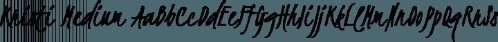 Kristi Medium free font