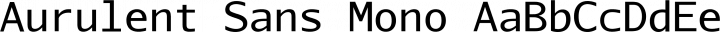 Aurulent Sans Mono Regular free font