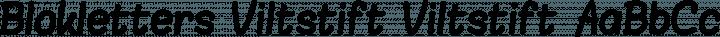 Blokletters Viltstift Viltstift free font