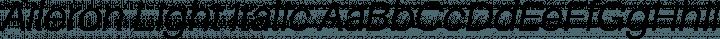 Aileron Light Italic free font