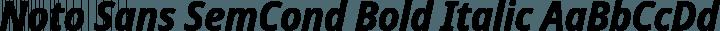 Noto Sans SemCond Bold Italic free font