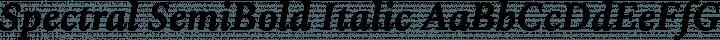 Spectral SemiBold Italic free font