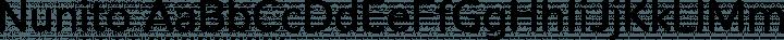 Nunito Regular free font