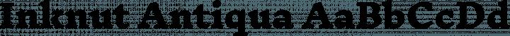 Inknut Antiqua font family by Claus Eggers Sørensen