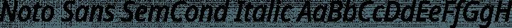 Noto Sans SemCond Italic free font