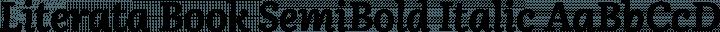 Literata Book SemiBold Italic free font