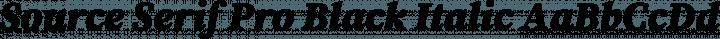Source Serif Pro Black Italic free font