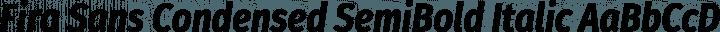 Fira Sans Condensed SemiBold Italic free font