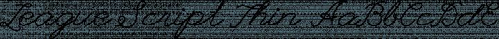 League Script Thin free font
