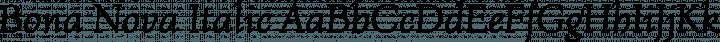 Bona Nova Italic free font