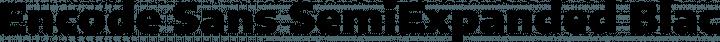 Encode Sans SemiExpanded Black free font