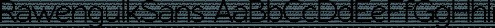 RawengulkSans font family by GLUK fonts
