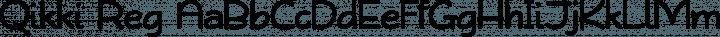 Qikki Reg Regular free font