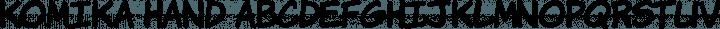 Komika Hand Regular free font