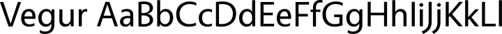 Vegur font family by dot colon