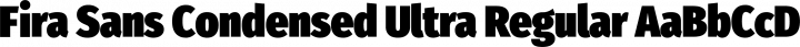 Fira Sans Condensed Ultra Regular free font