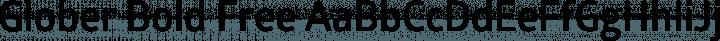 Glober Bold Free free font