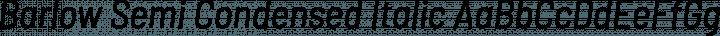 Barlow Semi Condensed Italic free font