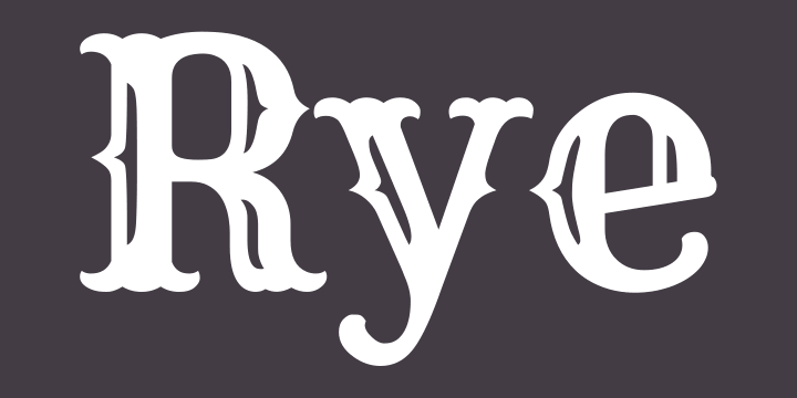 Rye Font Free by Nicole Fally » Font Squirrel