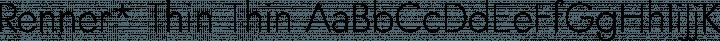 Renner* Thin Thin free font