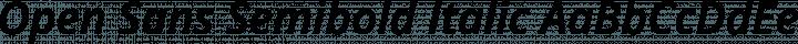 Open Sans Semibold Italic free font