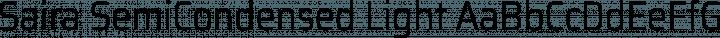Saira SemiCondensed Light free font