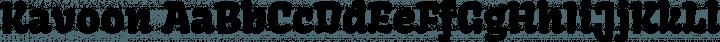 Kavoon Regular free font