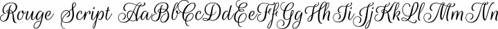 Rouge Script Regular free font