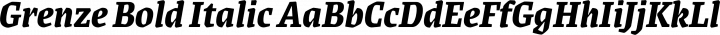 Grenze Bold Italic free font