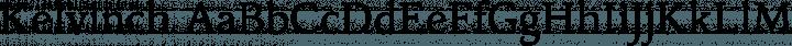 Kelvinch Regular free font