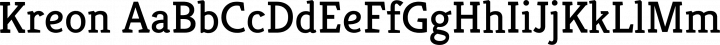 Kreon font family by Julia Petretta