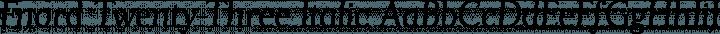 Fnord Twenty-Three Italic free font