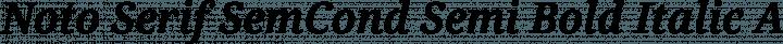 Noto Serif SemCond Semi Bold Italic free font