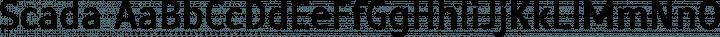Scada Regular free font