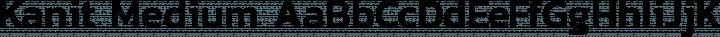 Kanit Medium free font