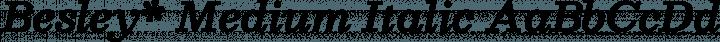 Besley* Medium Italic free font