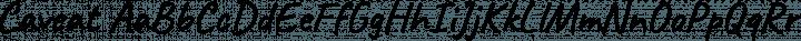 Caveat Regular free font